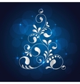 christmas white tree vector image