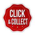 click and collect label or sticker vector image