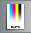 cmyk color model poster for flyer brochure cover vector image