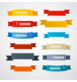 Colorful Retro Ribbons Labels Set vector image vector image