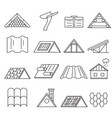 concept house roof construction thin line icon set vector image vector image