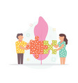 couple concept in flat style vector image