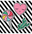 cute fashion patches sticker trendy vector image