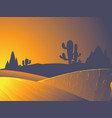desert twilight landscape vector image vector image