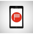 flag mobile phone navigation vector image vector image