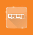 flat style bus silhouette icon vector image vector image