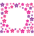 flowers frame vector image vector image