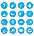 food icon blue vector image vector image