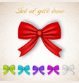 gift ribbon bows collection vector image vector image