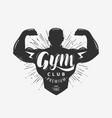 gym club logo or emblem sport concept lettering vector image vector image