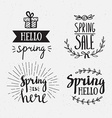 Hand Drawn spring lettering Easter Holidays vector image