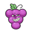 happy cheerful trolling grape cartoon character vector image