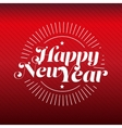Happy New Year lettering gold vector image vector image