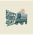 happy pioneers day vector image vector image