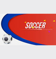 horizontal background football or soccer 2018 vector image