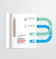 infographic book open with bookmark vector image vector image