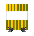 isolated food cart vector image