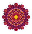 mandala design with vibrant colors vector image vector image
