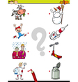 match pictures task for kids vector image vector image