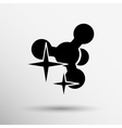 Molecule Icon isolated glossy shiny vector image vector image