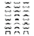 Moustache or mustache icons isolated set as labels vector image vector image