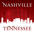 Nashville Tennessee city skyline silhouette vector image vector image