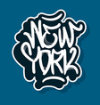 new york city nyc usa hand drawn lettering vector image