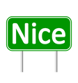 Nice road sign vector image vector image