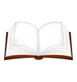 open book clipart symbol icon design isolated on vector image vector image