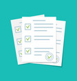 paper document form for exam with checklist vector image vector image