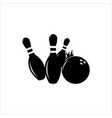 playing bowling vector image vector image