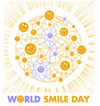 postcard smile day vector image vector image