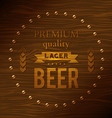 Premium quality lager beer vector image vector image