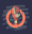 retro karaoke music club bar audio record studio vector image