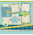 Scrapbook Design Elements - Vintage Tile with fram vector image vector image