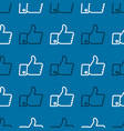 seamless like icons pattern thumb up sign vector image