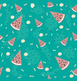 seamless pattern with watermelons vector image