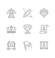 set line icons award vector image vector image