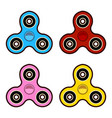 set of fidget spinners of different colors most vector image