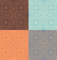 set of outlined calligraphic seamless patterns vector image