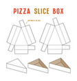 stock box for pizza slice vector image vector image