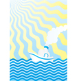 summer boat vector image vector image