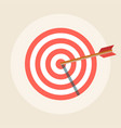 target with an arrow icon in a flat style vector image