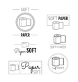 Toilet paper icon emblems labels Set of logos vector image vector image