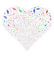 ufo fireworks heart vector image vector image