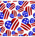 usa colors hearth shape celebration seamless vector image vector image