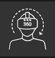 virtual reality video chalk icon vector image vector image