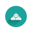 white jewish sweet bakery icon isolated with long vector image vector image