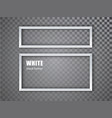 white realistic empty picture frame on transparent vector image vector image