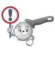 with sign pizza cutter knife cartoon for cutting vector image